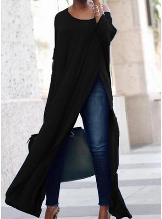 Jednolita Rękawy 3/4 Koktajlowa Maxi Casual Sukienki