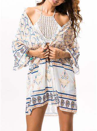 Fashional Print Cover-ups Swimsuit