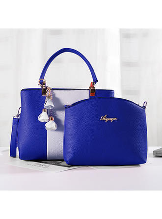 Charming/Commuting/Splice Color Satchel/Tote Bags/Crossbody Bags/Shoulder Bags/Bag Sets