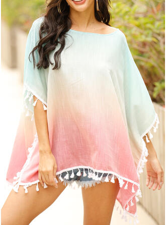 Splice color High Neck Boho Cover-ups Swimsuits