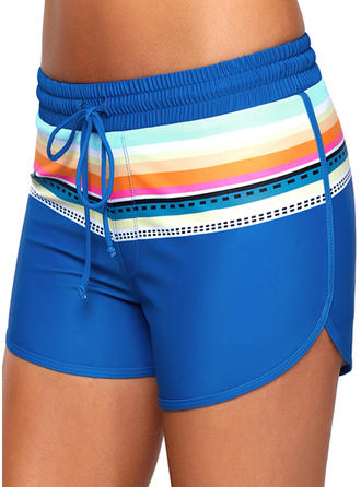 Stripe Bottom Sports Bottoms Swimsuits