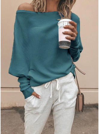 Solid Off the Shoulder Sweaters