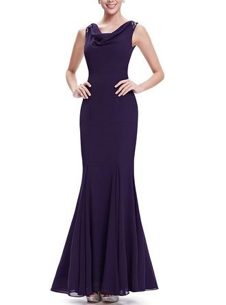 Sequins Sleeveless Sheath Maxi Dresses