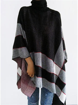 Knitting Sleeveless Houndstooth Capes