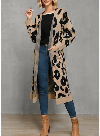 Leopard Casual Long Sweaters