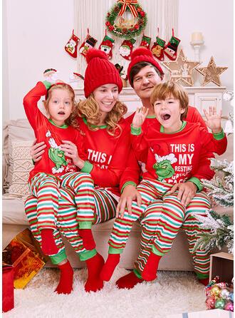 Γράμμα Смугастий Мультфільм Εκτύπωση Для сім'ї Різдвяні піжами