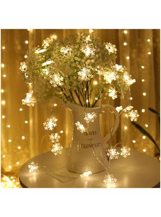 Feliz Navidad PVC Luces Decoración navideña Copo de nieve