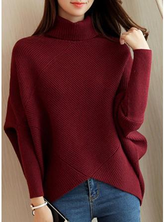 Color Block Turtleneck Sweater Dress