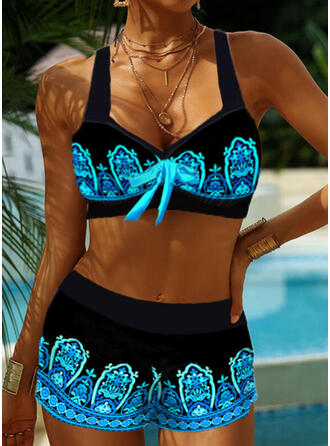 Colore della giuntura Cinghia Scollatura a V Retro Boho Bikinis Costumi Da Bagno