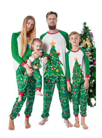 Color-block Print Family Matching Christmas Pajamas