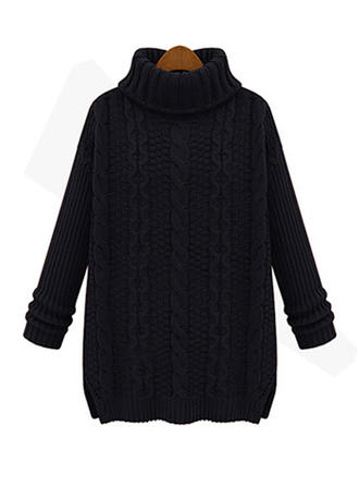 Turtleneck Cable-knit