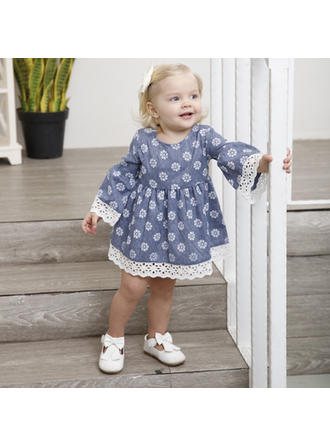 Bébé & Bambin Fille Imprimé floral Coton Robes à Manches Longues