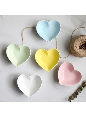 Szív alakú porcelán Desszert tálak