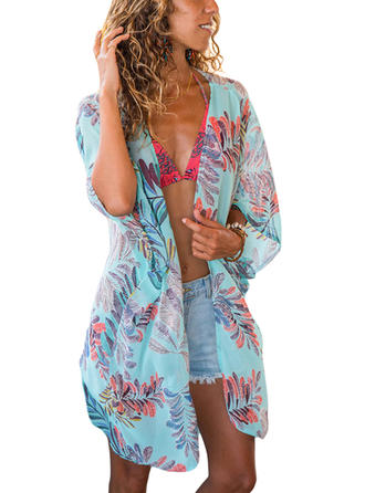 Long Sleeve Bohemian Cute Cover-ups Swimsuits