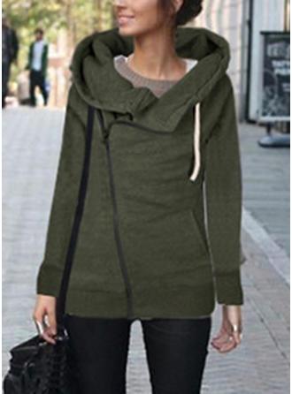 Algodón Color sólido con capucha