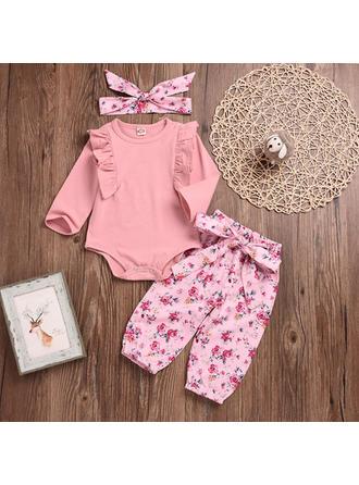 Bébé & Bambin Fille Imprimé floral Coton Pantalon,Body,Bandeau Définir La Taille