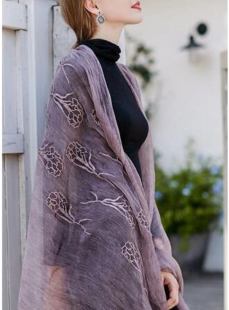 Bloemen/Effen kleur lichtgewicht/eenvoudig Sjaal