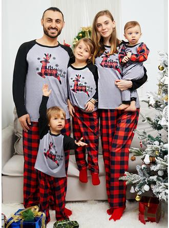 Ren Bloc de culori Kostkovaný Písmena De Familie Pijamale De Crăciun (1031337506)