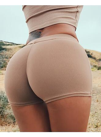 Solid Sexy Skinny Solid Shorts