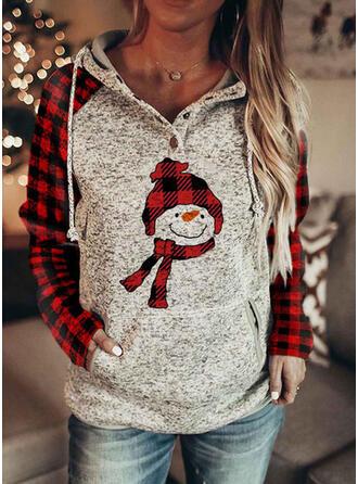 Grid Lommer Lange ærmer Jule sweatshirt