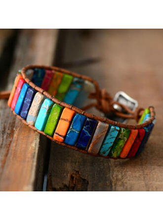 Colourful Boho Natural Stone Braided Rope Women's Bracelets