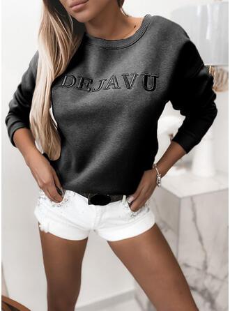 Figur rund hals Lange ærmer Sweatshirts