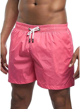 Men's Solid Color Swim Trunks Swimsuit