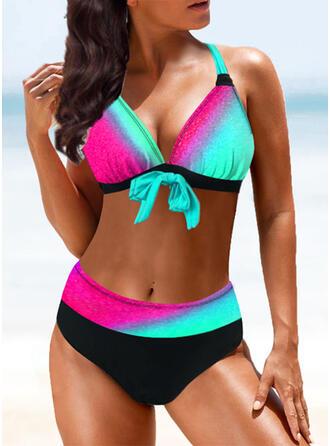 Splice color Halter Sexy Vintage Bikinis Swimsuits