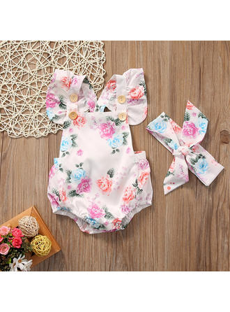 Bébé & Bambin Fille Imprimé floral Coton Body,Bandeau Définir La Taille