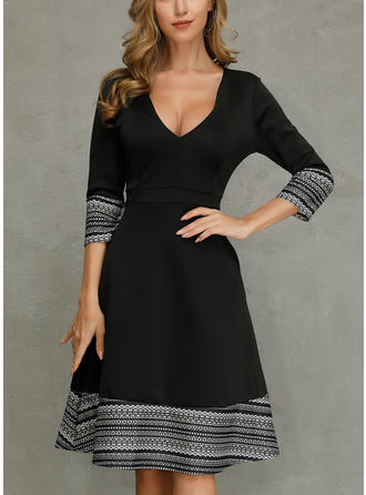Striped Long Sleeves A-line Maxi Casual/Party Dresses