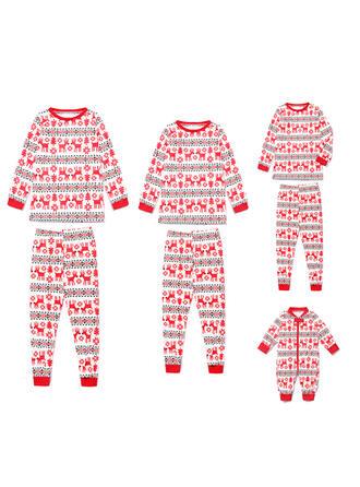 Τάρανδος Οικογένεια Εμφάνιση Χριστουγεννιάτικες πιτζάμες