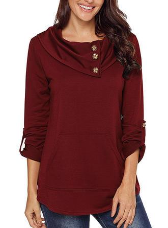 Polyester Turtleneck Plain Sweater