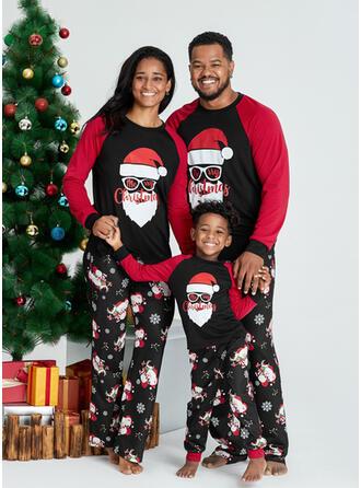Julemanden Letter Print Familie Matchende Jul Pyjamas