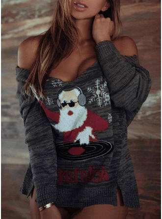 Women's Polyester Santa Ugly Christmas Sweater