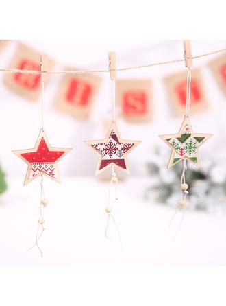 boldog Karácsonyt Függő Csillag Fa Karácsonyi medál Karácsonyi dekoráció