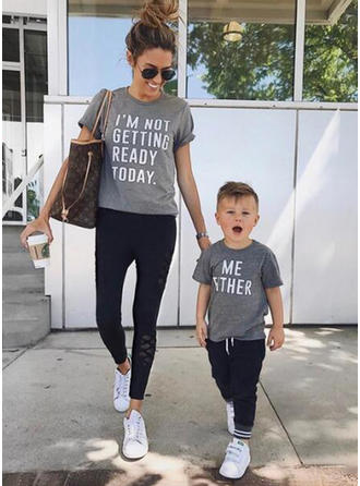 Mommy and Me Letter Matching T-Shirts