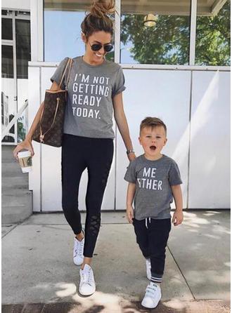 Maman et moi Letter Correspondant à T-shirts