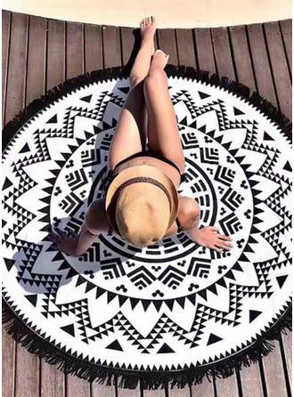 retro / vintage Oversized/okrągły/atrakcyjny ręcznik plażowy
