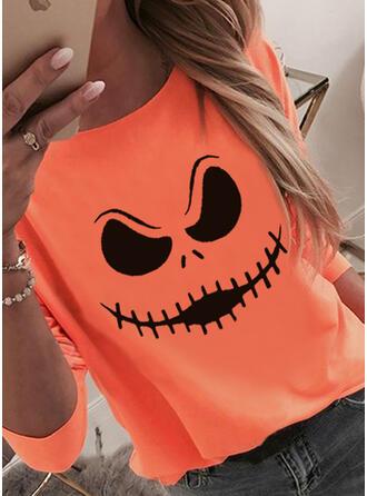 Halloween 印刷 ラウンドネック 長袖 ()