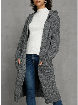 Cotton Blends Long Sleeves Plain Cardigans