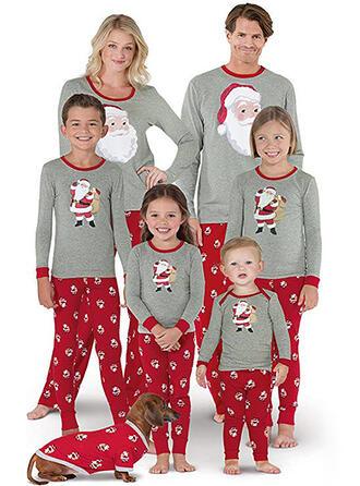 Święty Mikołaj Rodzinne Dopasowanie Świąteczne piżamy