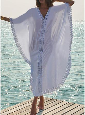 Imprimé Tropical Col V Sexy Bohème Tenues de plage Maillots De Bain