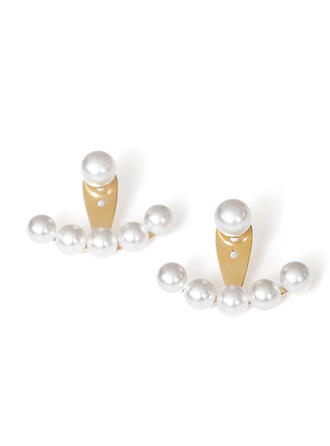 Exquisite Titanium Steel Pearl Women's Earrings