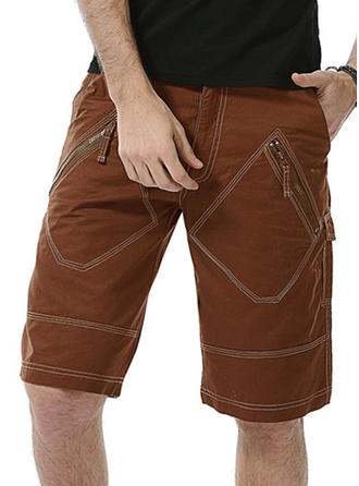Pour des hommes Couleur unie Shorts de bain Maillot de bain
