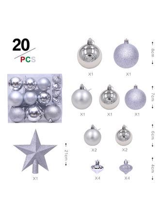boldog Karácsonyt 20 PCS PVC Karácsonyi dekoráció Labda (20-es készlet)