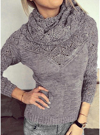 Acrylic Turtleneck Plain Sweater