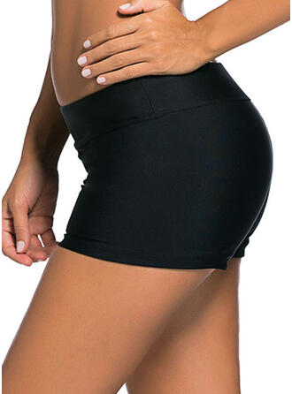 Solid Color Casual Bottoms Swimsuits