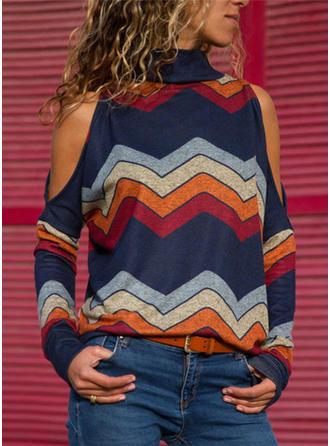 Graphic Turtleneck Sweaters