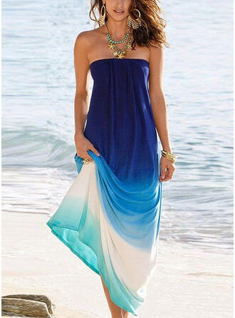 Tie Dye Sleeveless A-line Vacation Maxi Dresses