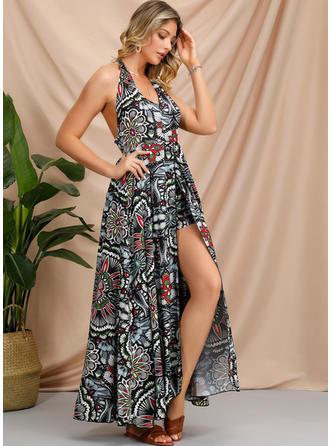 Print Sleeveless A-line Maxi Casual/Boho/Vacation Dresses